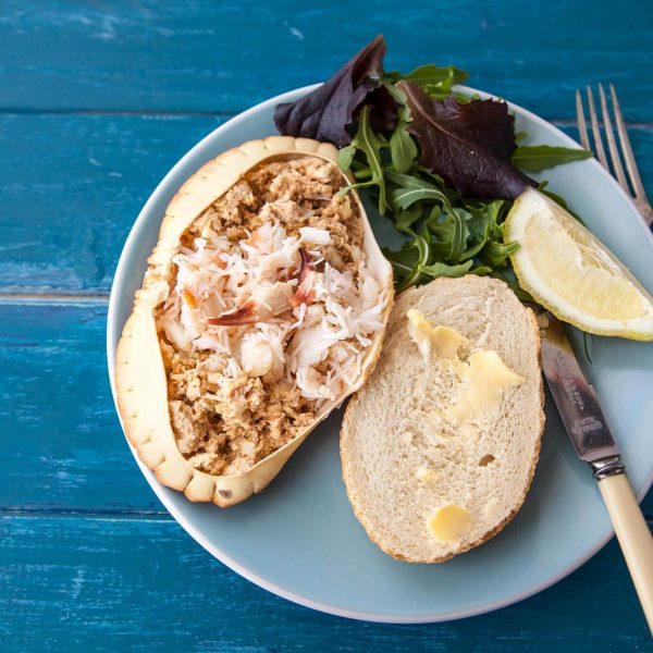 Dorset Shellfish Crab with bread