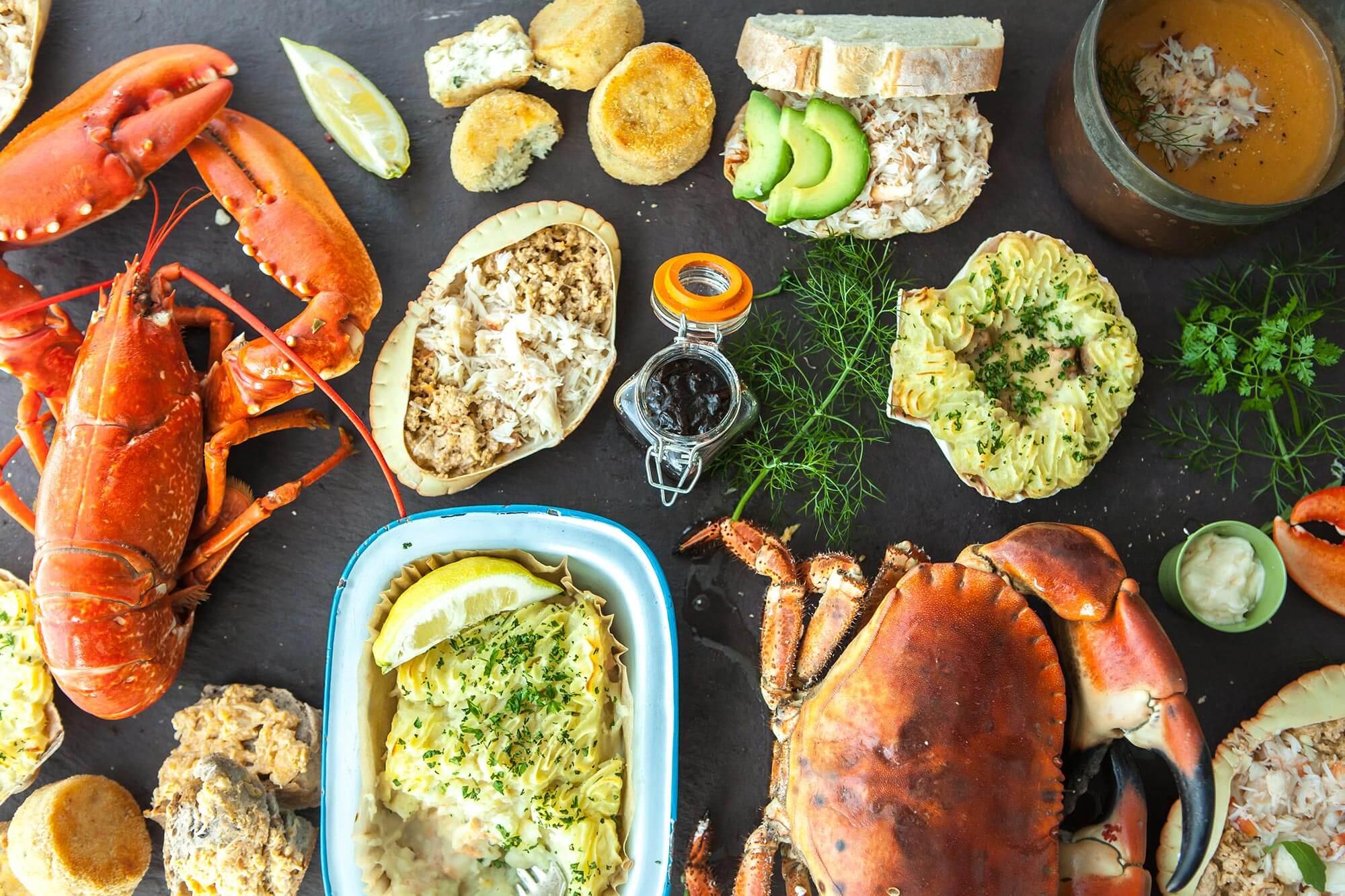 Freshly caught Crab and seafood   Dorset Shellfish