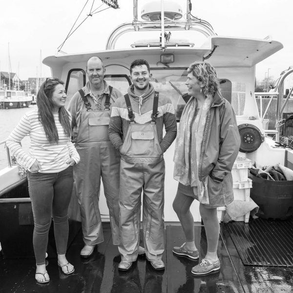 Dorset Shellfish the full crew BW